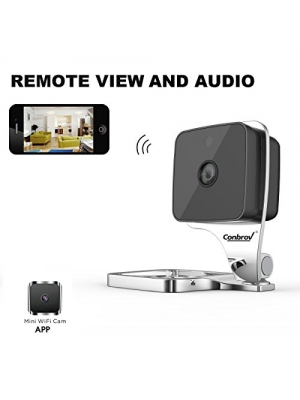 Conbrov WF90 HD Wifi Home Security Wireless IP Surveillance Camera Wide Angle Night Vision Motion Activated Nanny Cam Baby & Pet Monitor with Two Way Audio for iPhone Android Smartphone Indoor Use