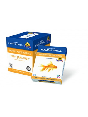 Hammermill Paper, Premium Multi-Purpose Poly Wrap, 24 lb, 8.5 x 11, Letter, 97 Bright, 2500 Sheets/5 Ream Case (105810C) Made In The USA