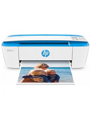 HP DeskJet 3755 Compact All-in-One Wireless Printer with Mobile Printing, Instant Ink ready in White and Light Blue J9V90A (Certified Refurbished)