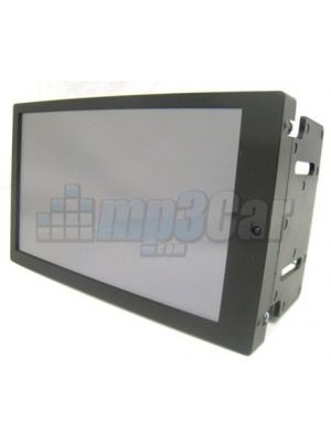"Preassembled Black Double Din LCD Frame with 7"" Lilliput 669GL-70NP/C/T-HB-RV HDMI DVI High Brightness"