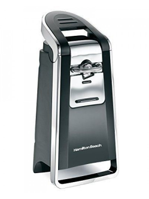Deluxe Hamilton Beach 76606ZA Smooth Touch Can Opener Black and Chrome