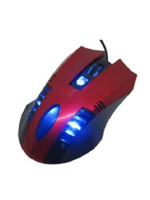 Generic KV-106 Performance Office Mouse High Precision Gaming Blue Laser Mouse with Controls 800/1600 DPI included -Red
