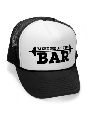 Megashirtz - Meet Me At The Bar - Retro Vintage Style Trucker Hat Cap