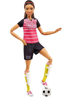 Barbie Made to Move Soccer Player Doll, Brunette