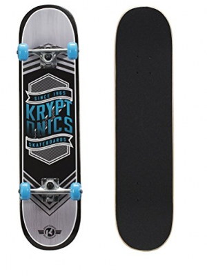 Kryptonics Drop-In Series Complete Skateboard, 31'' x 7.5''