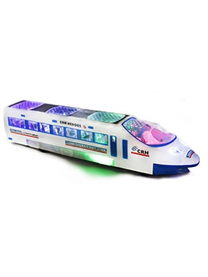 Haktoys Battery Operated Bump & Go Action Train Toy with Lights and Music
