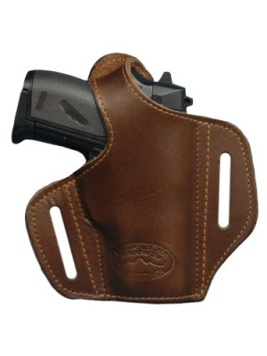New Barsony Brown Leather Pancake Gun Holster for Mini/Pocket 22 25 32 380