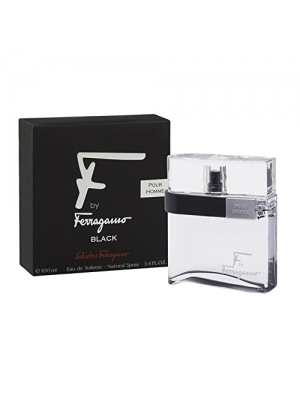 Salvatore Ferragamo F Ferragamo Black By Salvatore Ferragamo For Men Eau De Toilette Spray, 3.4-Ounce/100 Ml