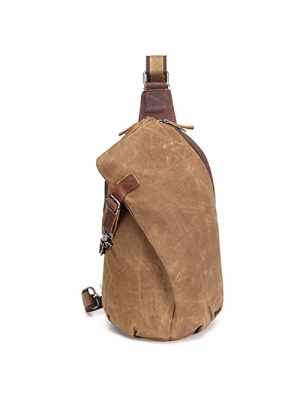 AOTIAN Waterproof Waxed Canvas Sling Backpacks Unisex Chest Bags, Warranty 2-Years