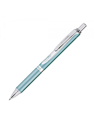 Pentel EnerGel Alloy RT Premium Liquid Gel Pen, 0.7mm, Aquamarine Barrel, Black Ink, 1 Pack (BL407LSBPA)