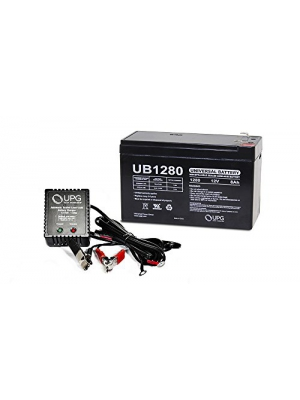 Universal Power Group 12V 8AH Replacement Battery for Vexilar FL-8SE Genz Pack + 12v 1Amp Charger