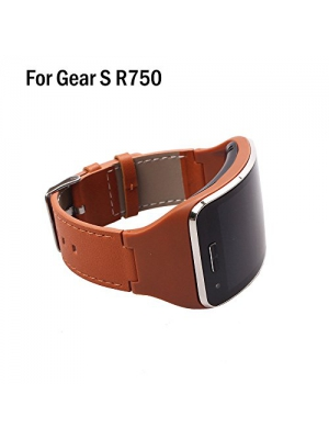 HWHMH 1PC Replacement Stainless Steel Metal Band/Genuine Leather Band Strap For Samsung Galaxy Gear S SM-R750 Smart Watch (No Tracker)