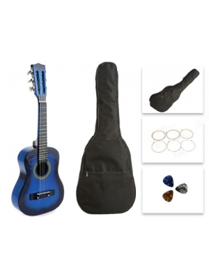 Star Kids Acoustic Toy Guitar 27 Inches Blue with Bag, Strings & Picks, CG621-BSP-BL