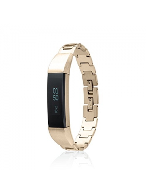 Fitbit Alta - Alta HR - Bracelet SOSO - stainless steel- 18K Gold plated - Jewelry for Fitbit Alta - Fitbit Alta Band - Fitbit Alta Accessories - Fitbit Alta replacement band (No Tracker)