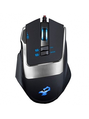 WQSuma 8 Buttons Professional Wired Game Mouse Black
