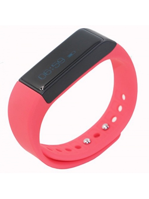 Juboury Fitness Smart Bracelet Bluetooth Phone Mate Smart Wristbands with Anti-lost Passometer Remote Notification for iPhone 4s/5/5s/6 plus Samsung S4/Note 3 HTC Android Phones on Wrist (Red)
