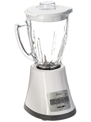 Oster BLSTMG White 8 Speed 6-Cup Glass Jar Blender, 220 Volts (Not for USA)