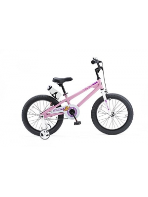 RoyalBaby BMX Freestyle Kids Bike, Boy's Bikes and Girl's Bikes with training wheels, Gifts for children, 16 inch wheels, Pink