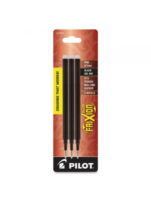 Pilot FriXion Gel Ink Pen Refill, 3-Pack for Erasable Pens, Fine Point, Black Ink (77330)