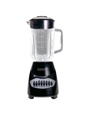BLACK+DECKER BL2010BG 10-Speed Glass Jar Blender, Black (Certified Refurbished)