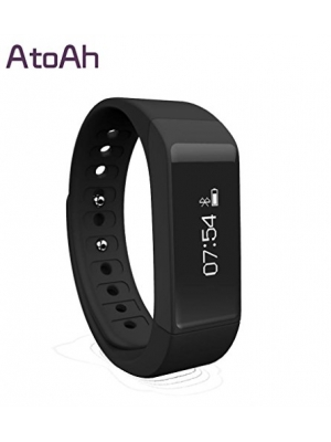 Atoah® New Style Smart Bracelet with Bluestooth 4.0 Touch Screen Wireless Activity and Sleep Pedometer Smart Fitness Tracker Wristband and Support Mobile Device Such As Iphone 5,6 or Other Android Phone