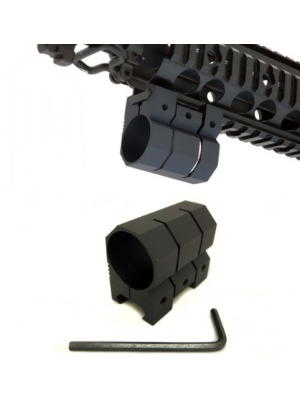 "Monstrum Tactical 1"" Picatinny/Weaver Rail Mount for Flashlights"