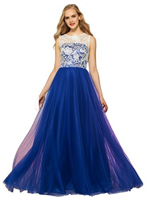 Sisjuly Women's Lace Gown Long Evening Prom Dress