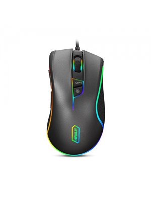 HIRALIY F300 Gaming Mouse Wired RGB Backlit 9 Programmable Buttons 5000 DPI Optical Sensor PMW3325