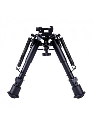 Ohuhu 6'' to 9'' Bipod - Adjustable Spring Return Sniper Hunting Tactical Rifle Bipod with Picatinny Rail Mount Adapter