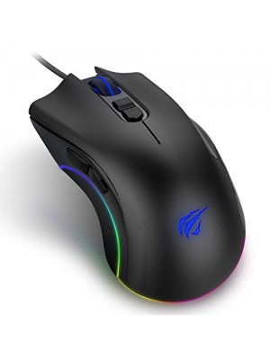 Havit Programmable Gaming Mouse 4000DPI 7 Buttons RGB Backlit Wired Optical PC, Computer & Laptop (Black)