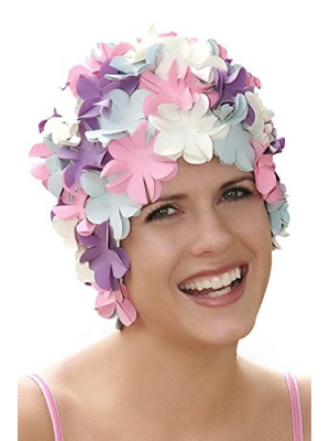 SYNC Original Swimwear Petal Swim Caps I Vintage Retro Flower Bathing Cap
