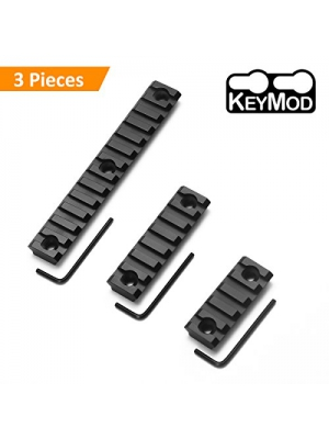 Keymod Picatinny Rail Sections, Apicallife 5 Slot 7Slot 13 Slot Lightweight Picatinny Rail Section for Keymod Handguard Mount Rail System with 3 Allen Wrench & Solid Style,Matte Black
