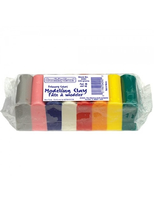 Chenille Kraft 4092 Modeling Clay Assortment, 27 1/2g Each Assorted Bright, 220 g (CKC4092)