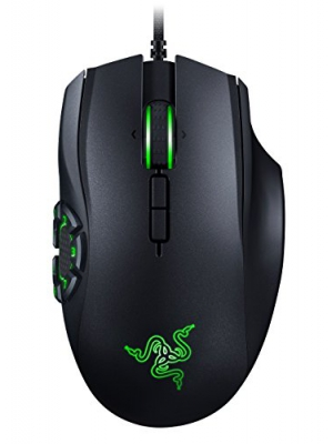 RAZER NAGA HEX V2: 7 Button Thumb Grid - 16,000 Adjustable DPI - New Ergonomic Form Factor - MOBA Gaming Mouse