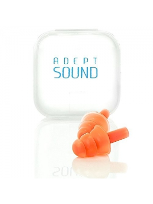 Ear Plugs Orange Reduce Loud Noise For Sleeping, Concerts, Music Events, Shooting Range, Construction Work, Motor Sports Racing, Made Of Soft Hypoallergenic Silicone To Be Reusable & Comfortable