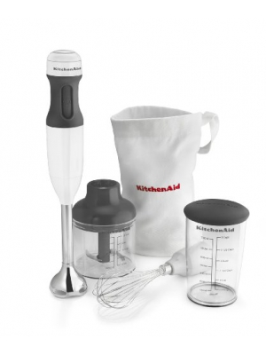 Kitchenaid Hand Blender Mixer White khb2351wh 3 Speed with Soft Grip Handle Blend, Puree,Crush, Chop and Whisk.