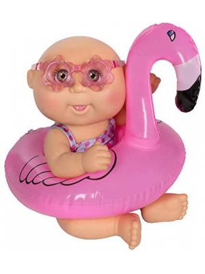 "Cabbage Patch Kids 9"" Deluxe Splash N' Float - Brown Eye Girl Flamingo"