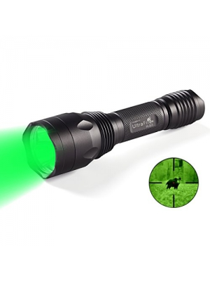 UltraFire Green Hunting Tactical Flashlight Hunting Gear Hunting Tactical Green 256 yards 650 Lumens 520-535 nm wavelength Torch Waterproof Flashlight