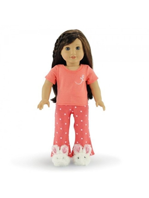 "18 Inch Doll Clothes Coral Pajamas PJs | Fits 18"" American Girl Dolls 