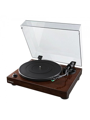 Fluance RT81 High Fidelity Vinyl Turntable Record Player with Dual Magnet Cartridge, Elliptical Diamond Stylus, Belt Drive, Built-in Preamp, Adjustable Counterweight & Anti-Skating, Solid Wood Cabinet