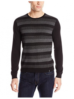 Calvin Klein Men's Stripe Crew-Neck Sweater