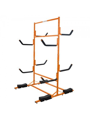 RAD Sportz Tall Stand Freestanding Heavy Duty Kayak Rack Two Kayak Storage Holds 6 Kayaks
