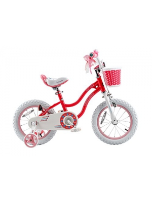 RoyalBaby Stargirl Girl's Bike with Training Wheels and Basket, Perfect Gift for Kids. 12 Inch, 14 Inch, 16 Inch, Blue/Pink