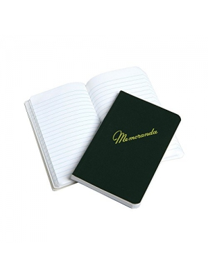 "Green Military Memorandum Book/Military Memo Book, 3-3/8"" x 5-1/2"", Dark Green, SIDE Bound, NSN 7530-00-222-0078 (3 Units)"