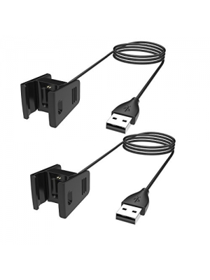 Fitbit Charge 2 Charger, BeneStellar 2-Pack 3.3ft/1m or 1.8ft/55cm Replacement Charging Cable for Fitbit Charge 2