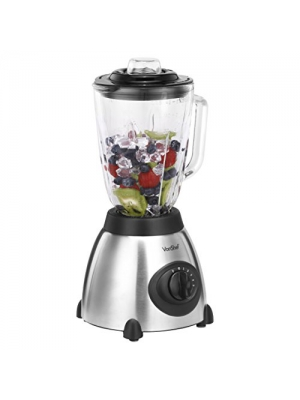 VonShef Premium Variable Speed 500W Blender, 5 Speeds Plus Pulse Function, Silver