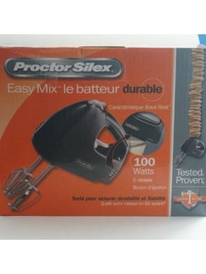 PROCTOR SILEX, MIX 100 WATT HAND MIXER - BLACK (Catalog Category: )
