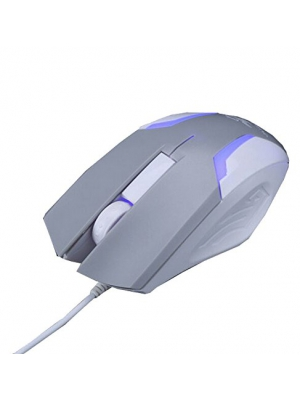 WQSuma Graywhite Game Wired Mouse For Laptops PC And Mac Computers