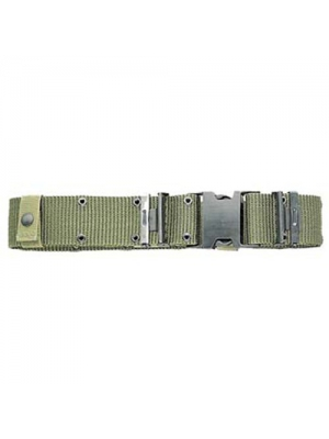 Military Outdoor Clothing Previously Issued U.S. G.I. Large Olive Drab Military Surplus Pistol Belt with Black Quick-Release Buckle