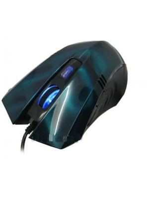 Generic KV-100 Performance Office Mouse High Precision Gaming Blue Laser Mouse with Controls 800/1600 DPI included -Blue
